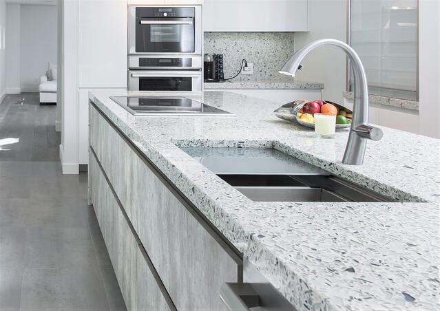 Palladian-Grey-Vetrazzo-recycled-glass-countertop-modern