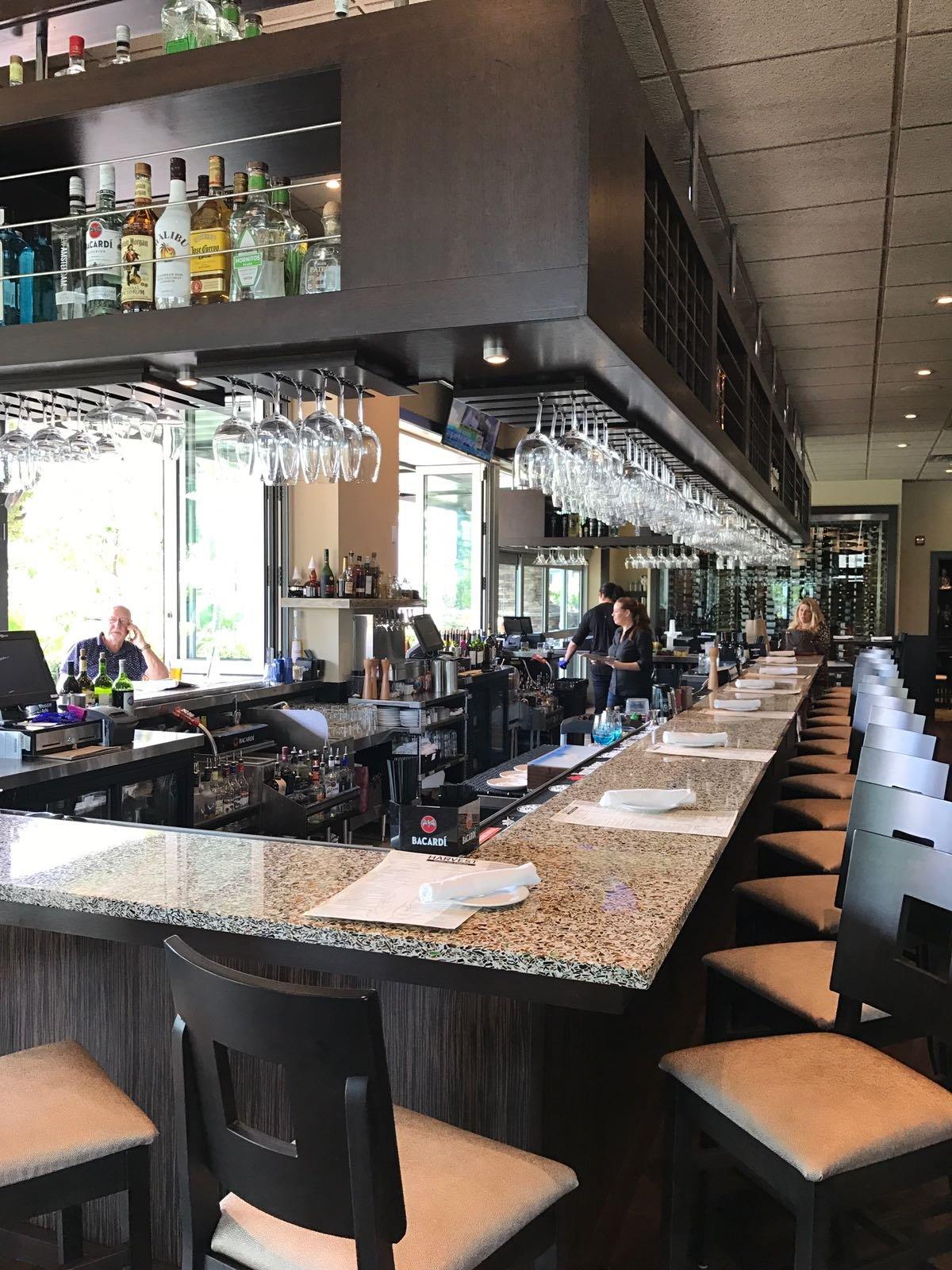 Harvest Bar recycled glass countertops vetrazzo del ray florida
